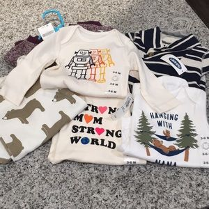BABY BOY LONG SLEEVE BUNDLE 3-6 month (6ITEMS)